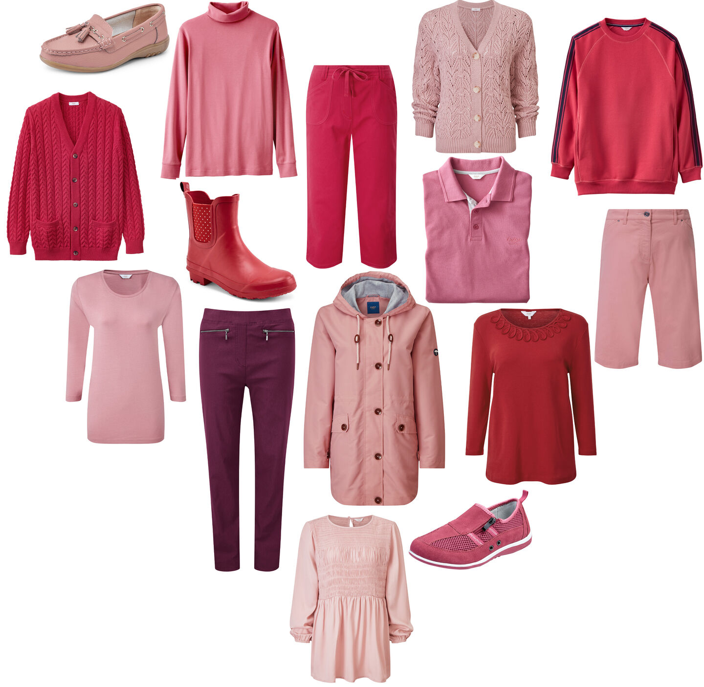 Pink & Red Women's Clothing