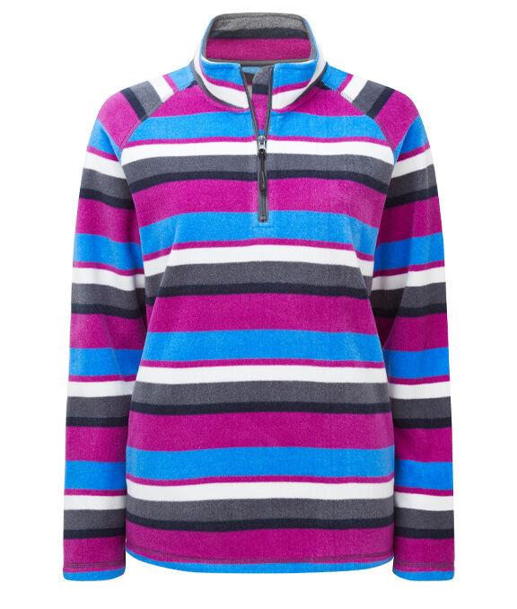 Fleece Collection | Stripe Fleece Half Zip Top | By Cotton Traders