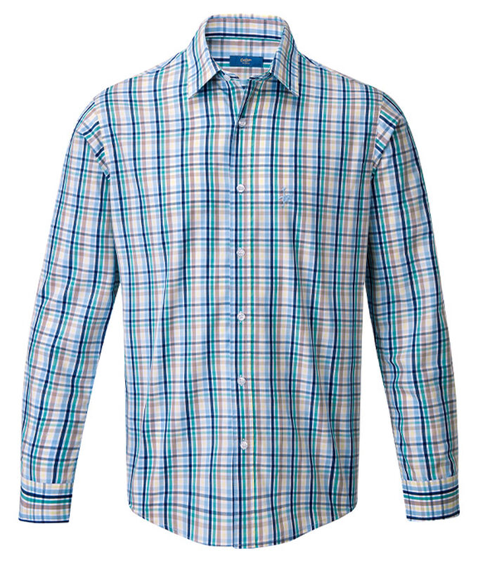 The Charismatic Goose | Long Sleeve Easy Iron Taylor Shirt | By Cotton Traders