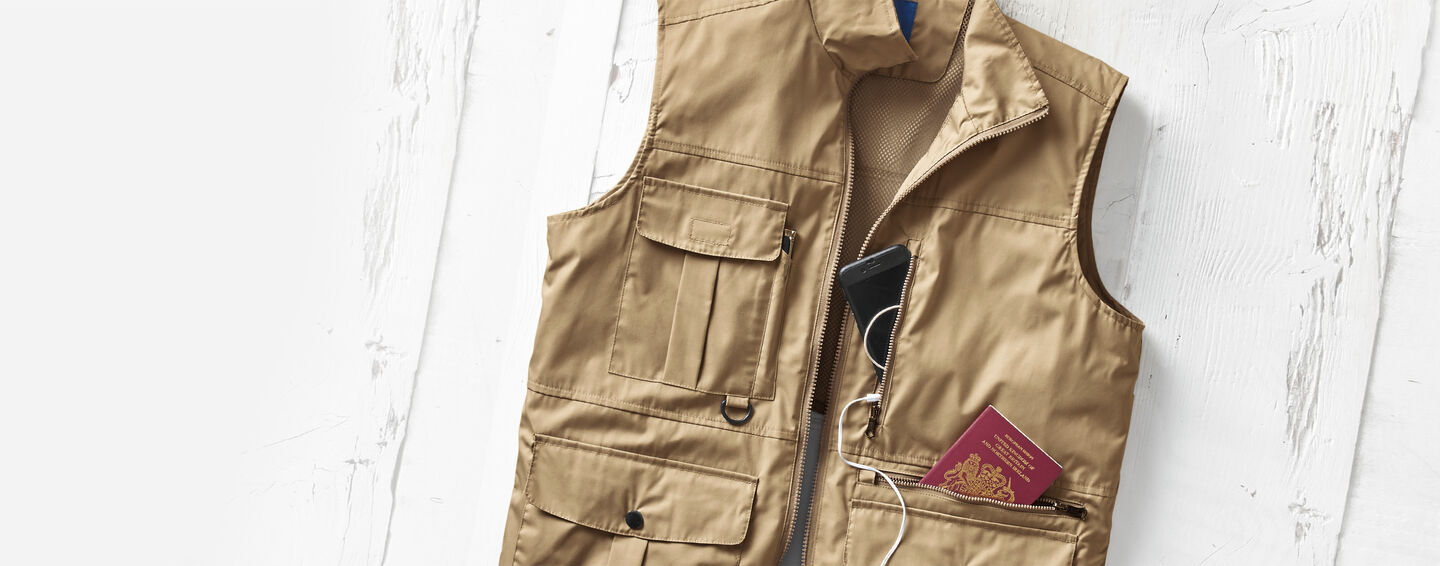 Wear Today Layer Tomorrow Inspirations | Multi Pocket Gilet | By Cotton Traders