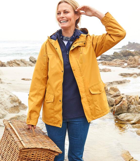Waterproof Fleece Lined Jacket   By Cotton Traders