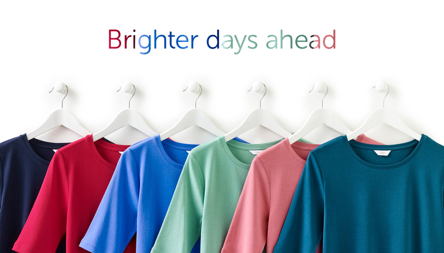 Inspirational Brighter Days | Elasticated Hem Blouse | By Cotton Traders