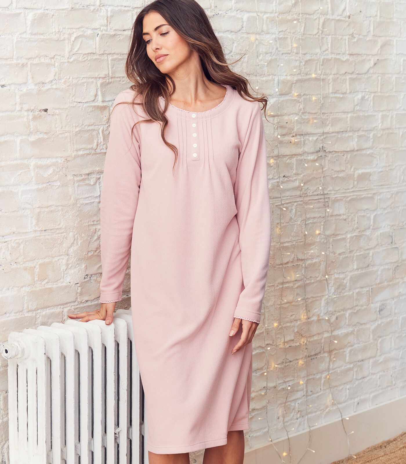 Cosy Nights In | Pack of 2 Fleece Nightdresses | By Cotton Traders