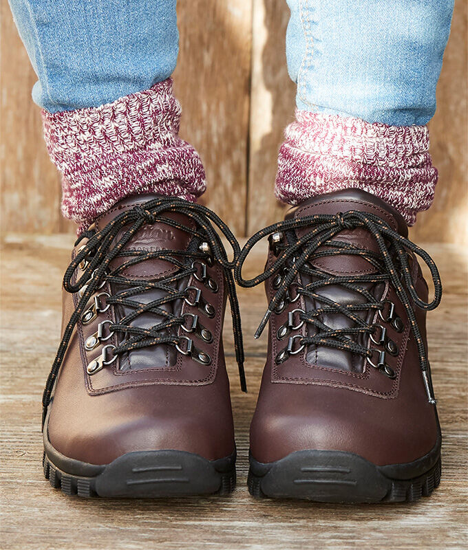 Autumn Footwear | Unisex Walking Shoes & Hiking Boots | Leather Waterproof Walking Shoes | By Cotton Traders