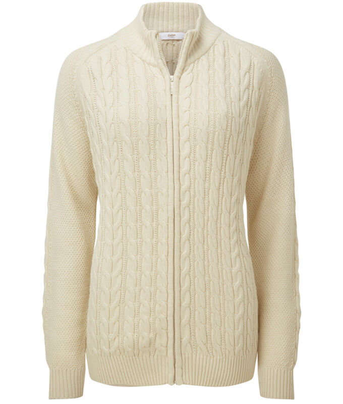 Knitwear Inspirations | Cotton Cable Zip Through Cardigan | By Cotton Traders