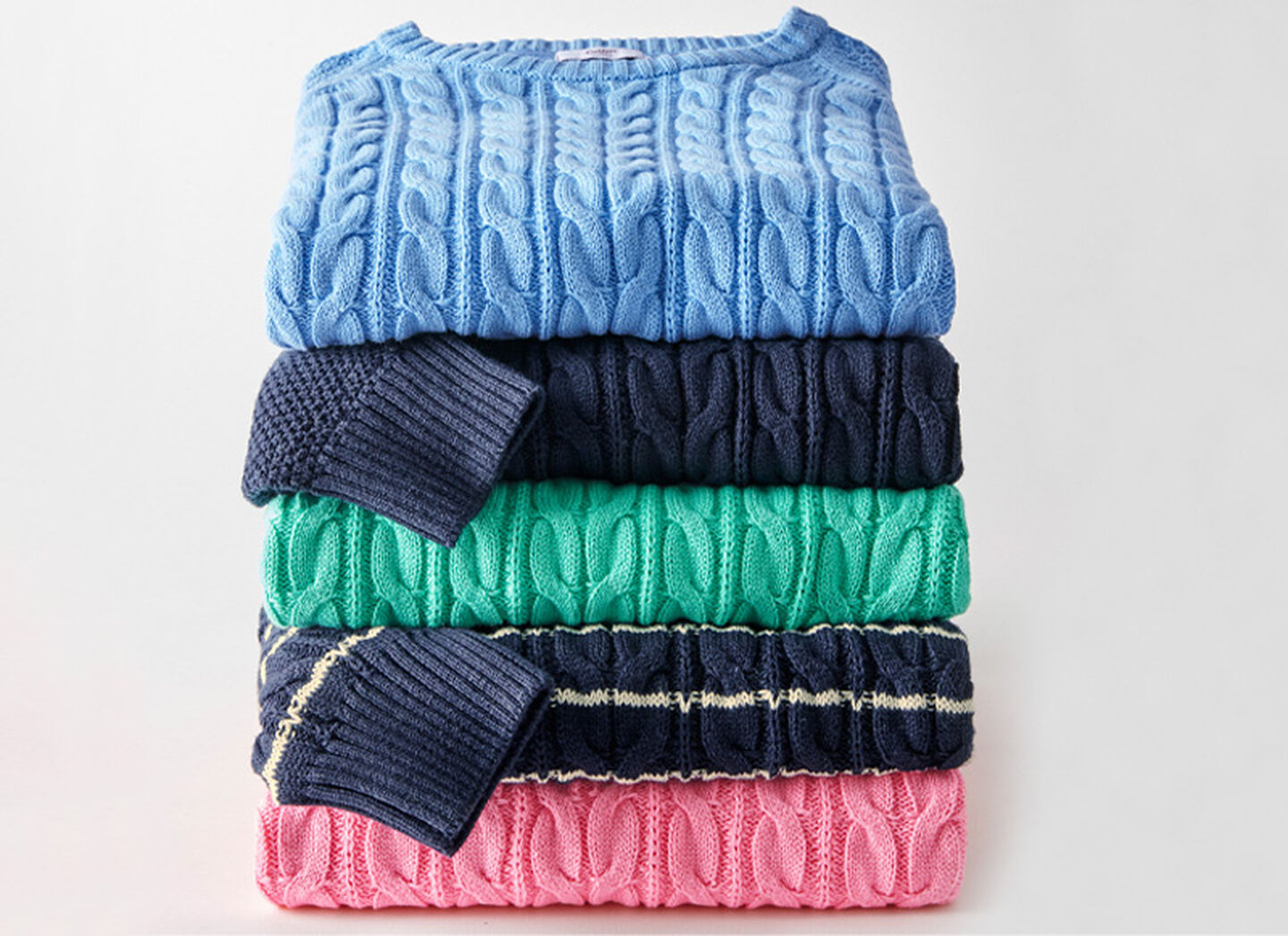 Knitwear Inspirations | Cotton Cable Crew Neck Jumper | Cotton Cable Stripe Crew Neck Jumper | Cotton Cable Zip Through Cardigan | By Cotton Traders