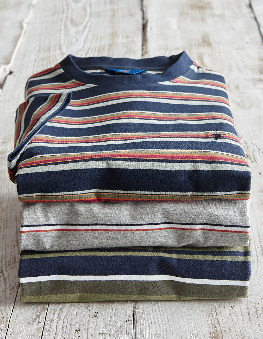The Charismatic Goose | Organic Striped T-shirt | By Cotton Traders