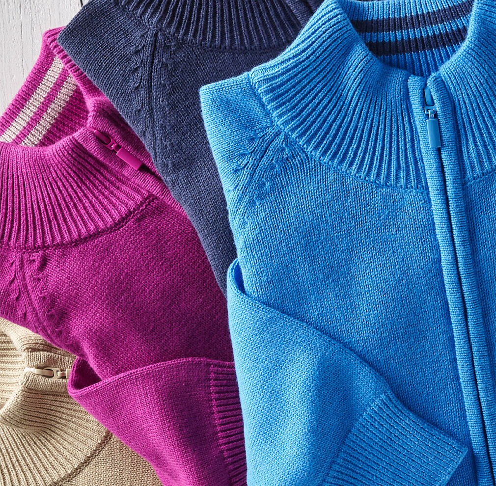 Knitwear Inspirations | Cotton Zip-through Cardigan | By Cotton Traders