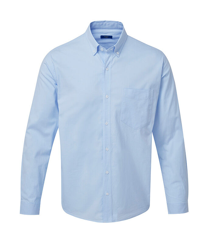 Men's Collection | Long Sleeve Stetch Oxford Shirt | By Cotton Traders