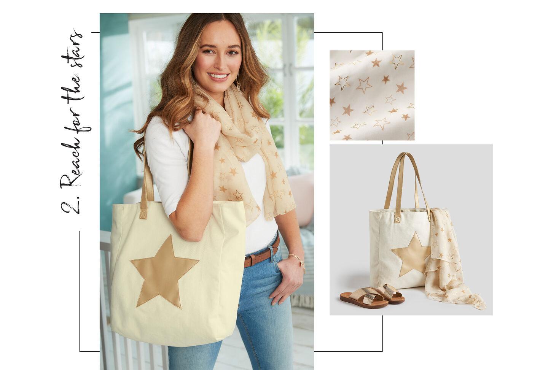 Metallic Star Bag