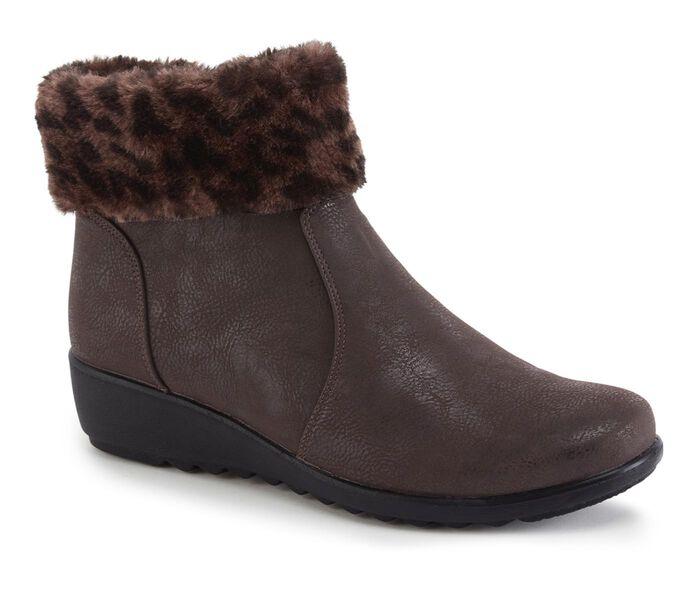 Flexisole Fur Collar Ankle Boots
