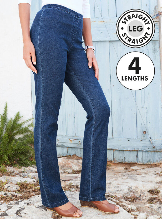 Inspirational Colours | Slim Straight Leg Jeggings | By Cotton Traders
