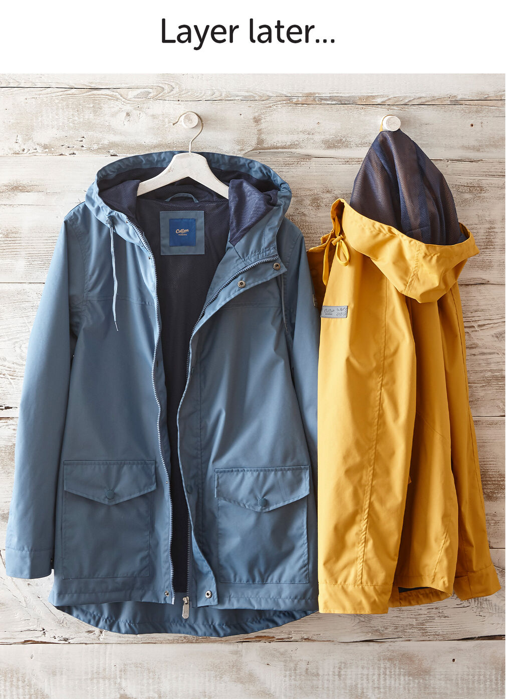Wear Today Layer Tomorrow Inspirations | Woodland Lightweight Waterproof Jacket | By Cotton Traders