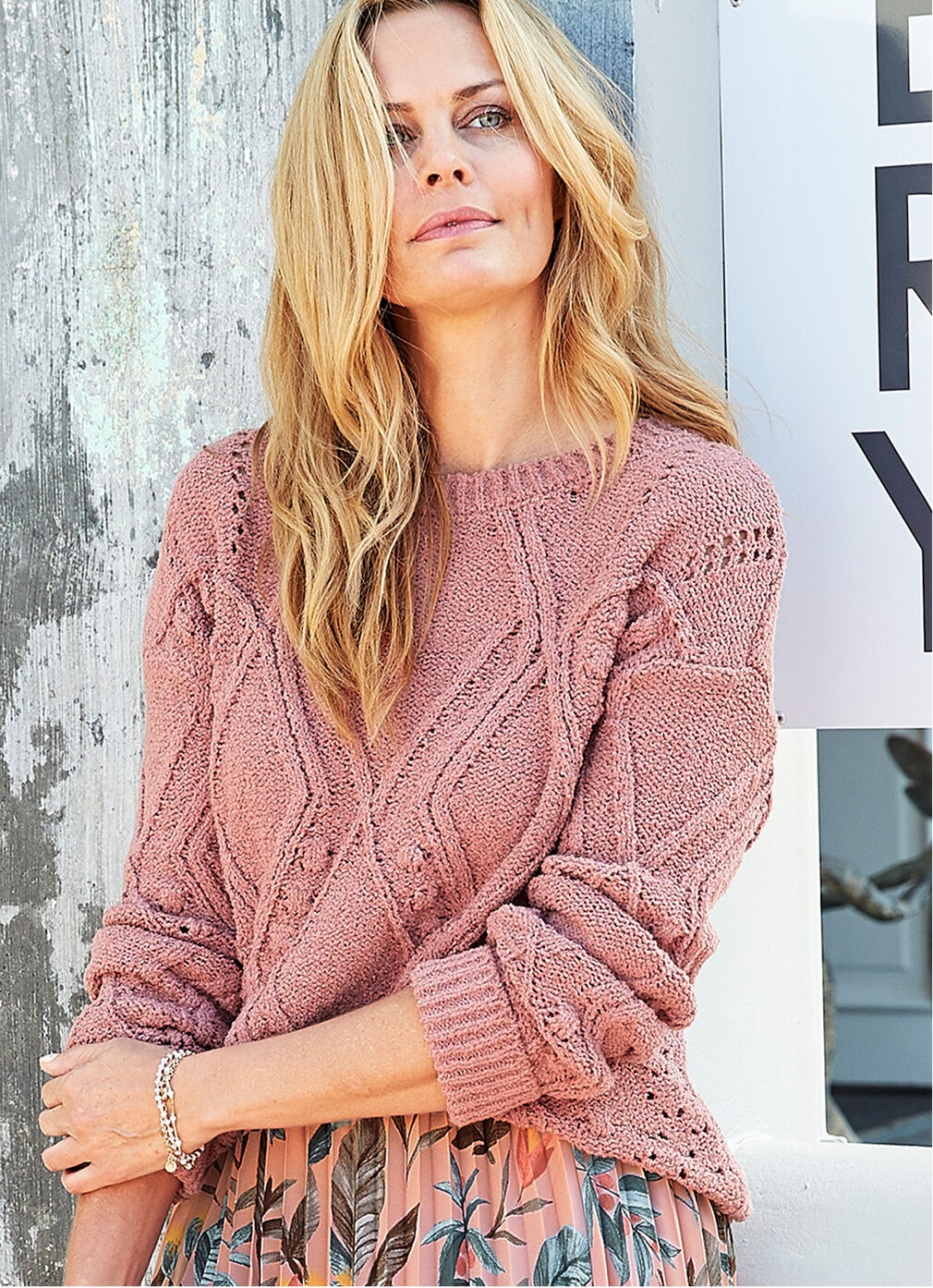 Inspirational Cashmere Knitwear | Cable Jumper | By Cotton Traders