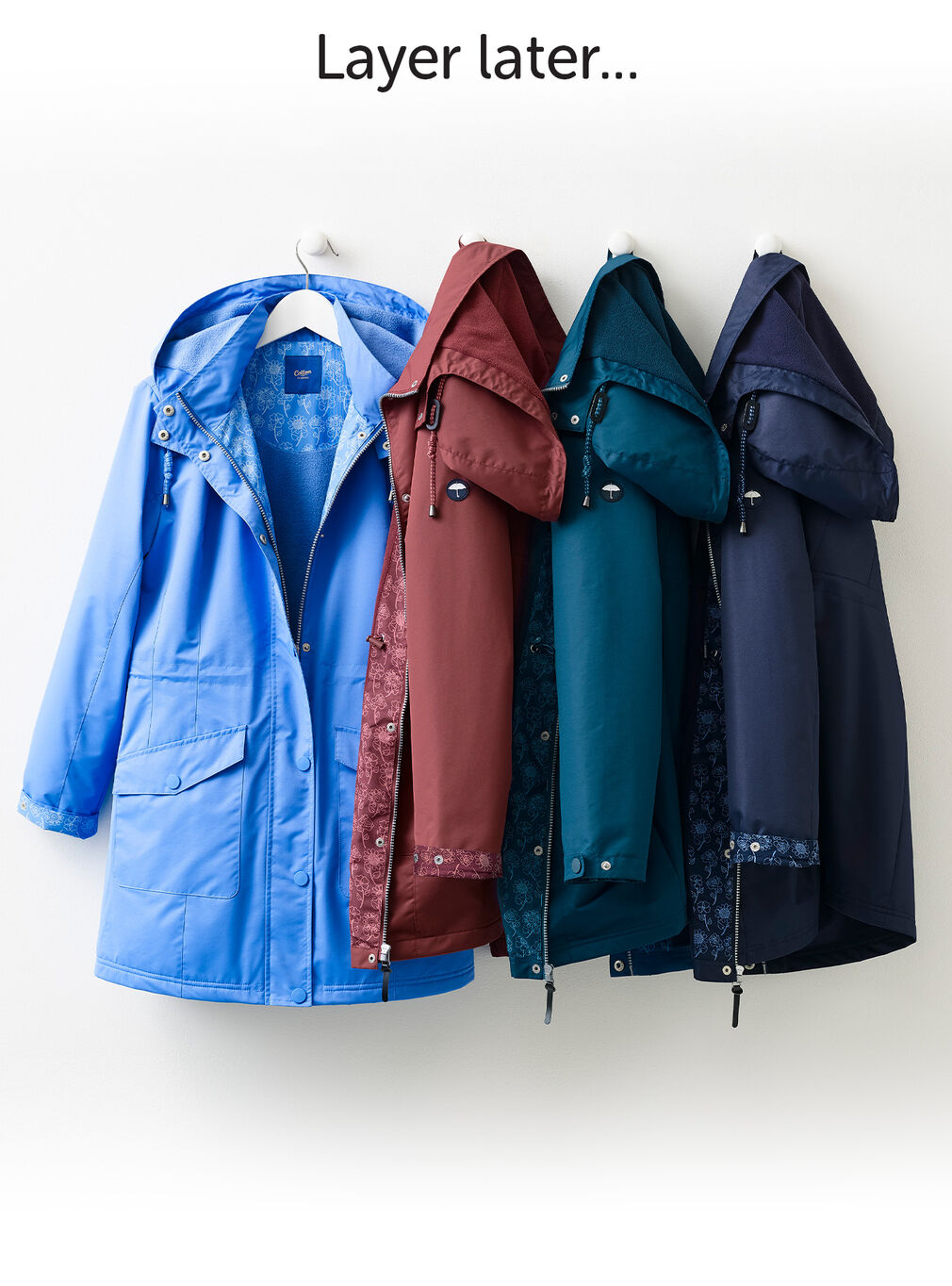 Wear Today Layer Tomorrow Inspirations | Waterproof Fleece Lined Jacket | By Cotton Traders