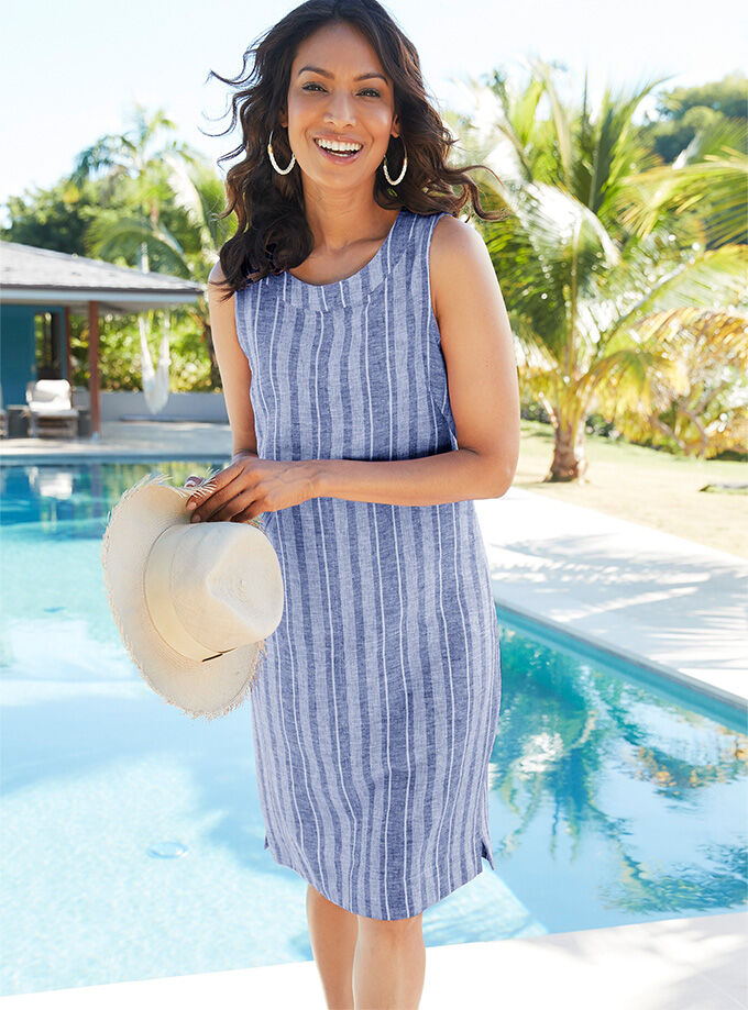 The Linen Collection | Linen Blend Stripe Dress | By Cotton Traders