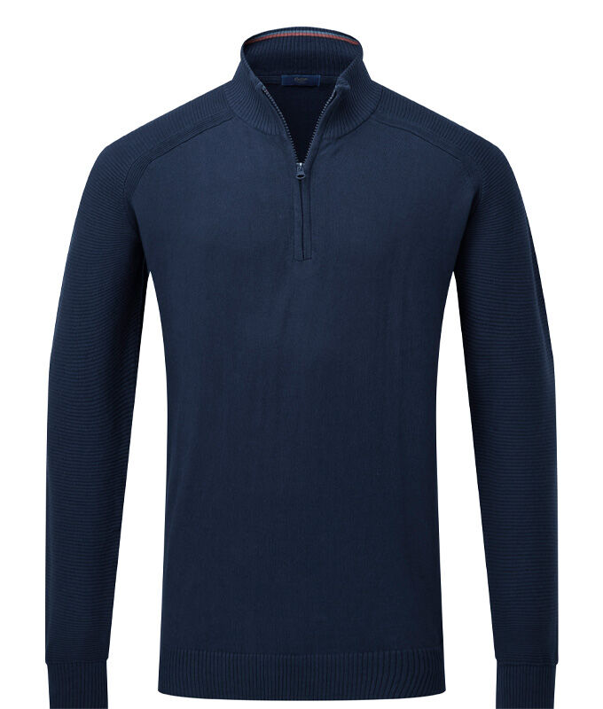 Knitwear Inspirations | Cotton Cashmere Half Zip Jumper | By Cotton Traders