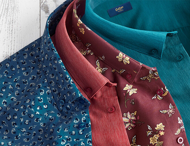 Inspire Me | Trending Categories | Men's Shirts | Long Sleeve Soft Touch Shirt | By Cotton Traders