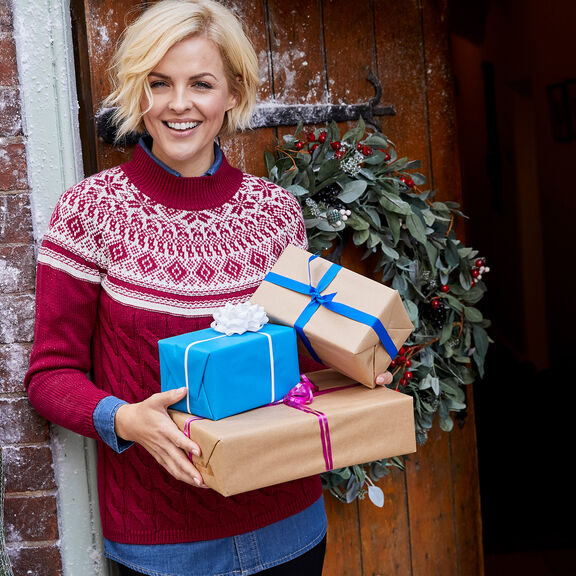 Fair Isle Jumper   By Cotton Traders