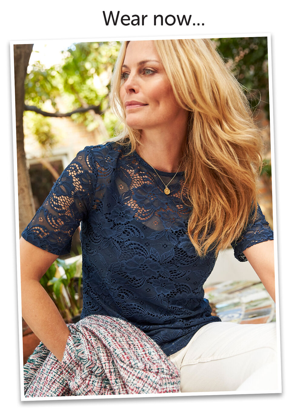 Wear Today Layer Tomorrow Inspirations | Stretch Lace Top and Cami | By Cotton Traders