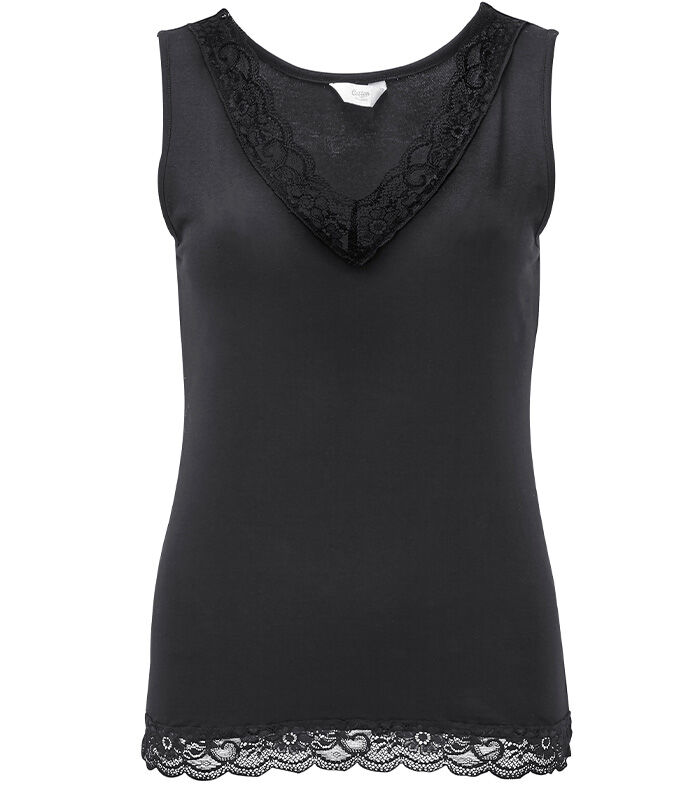 The Folk Maxi Dress   Lace Trim Vest   By Cotton Traders