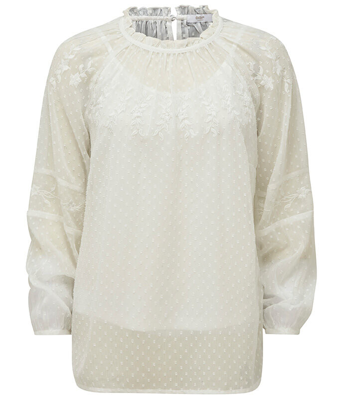 The Folk Maxi Dress   Embroidered Long Sleeve Blissful Blouse   By Cotton Traders