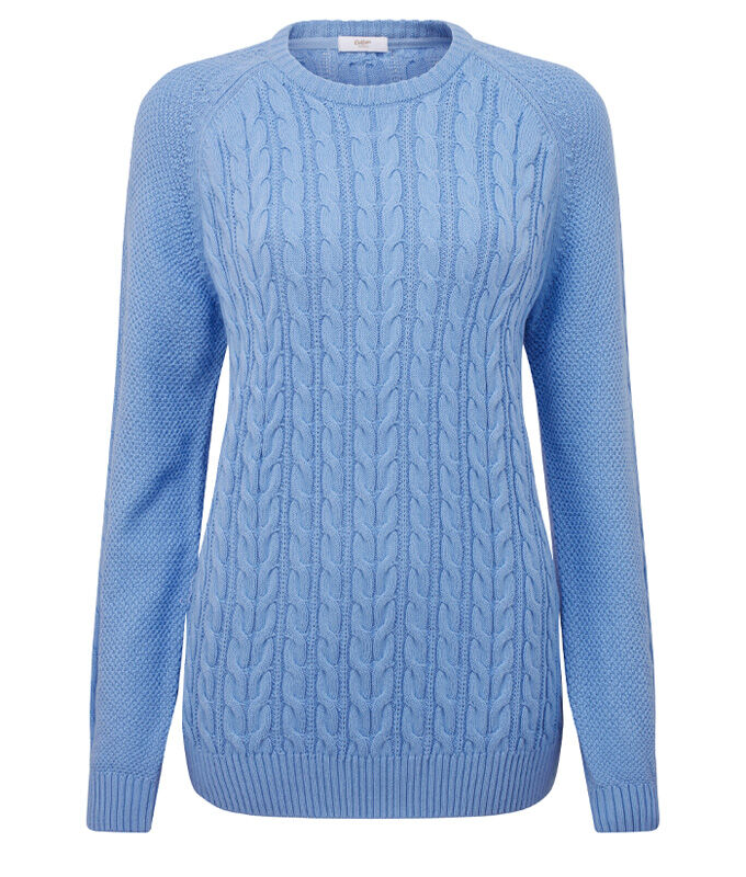 Knitwear Inspirations | Cotton Cable Crew Neck Jumper | By Cotton Traders