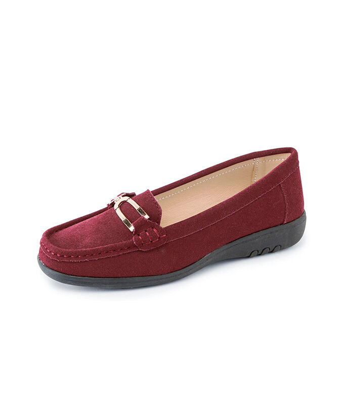 The Colourblock Jumper | Leather Flexisole Loafers | By Cotton Traders