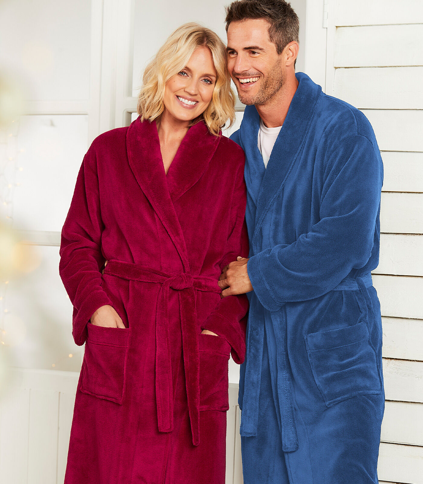 Cosy Nights In | Fleece Dressing Gown | By Cotton Traders