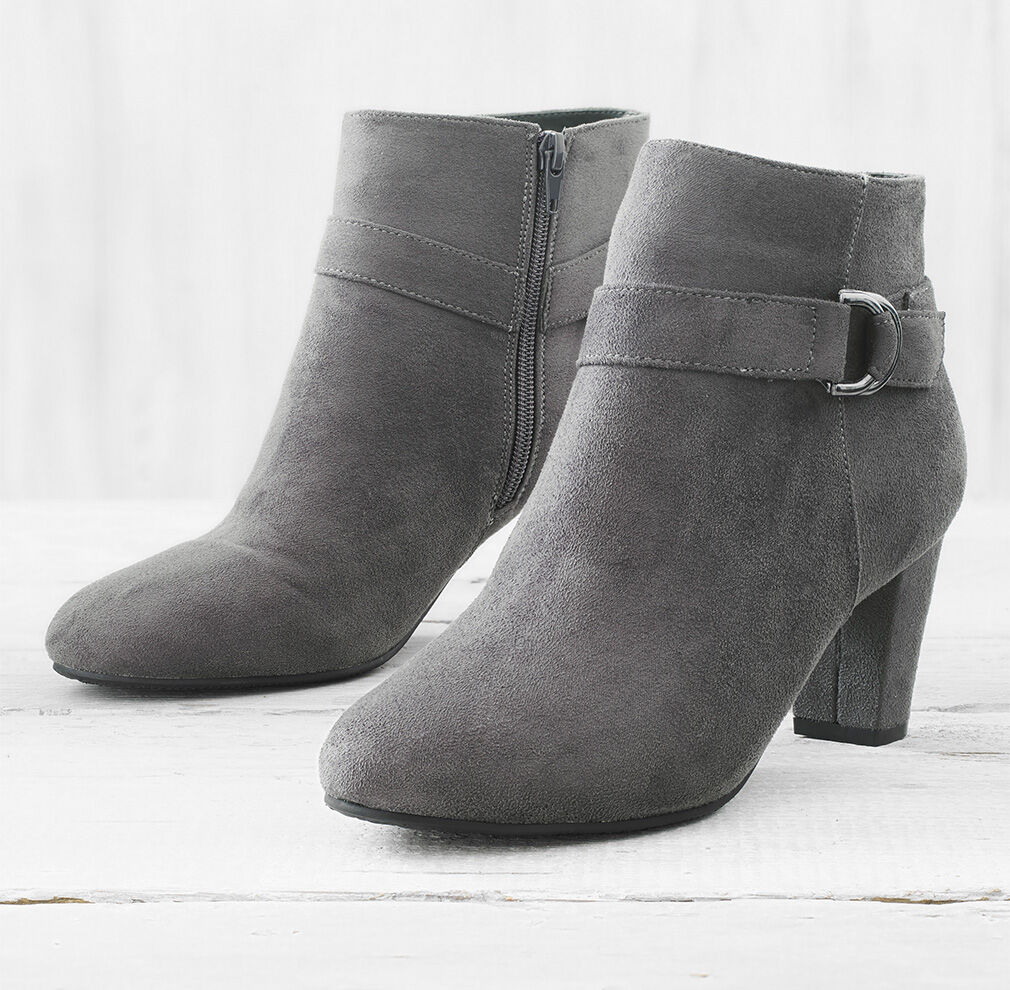 City Chic | Comfort Heeled Boots | By Cotton Traders