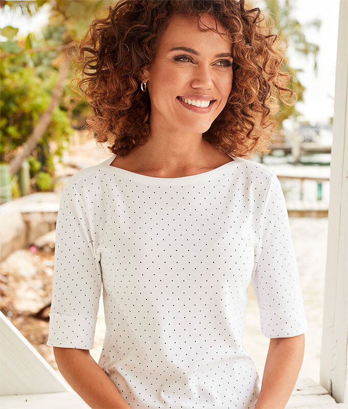 Ready For The Season | Wrinkle Free Spot Top | By Cottontraders