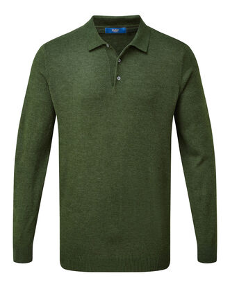 Luxury Long Sleeve Polo Top