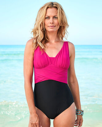 Colour Block Tummy Control Swimsuit
