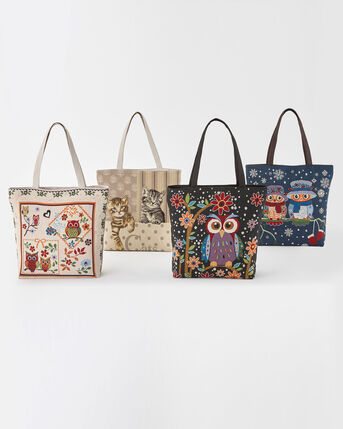 Embroidered Shopper Bag