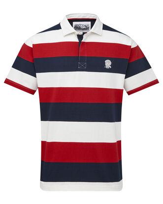 England Rose Short Sleeve Stripe Rugby Shirt