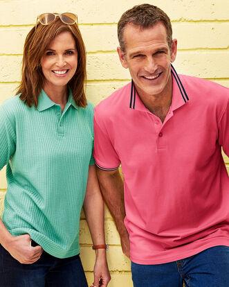 Short Sleeve Jersey Polo Shirt