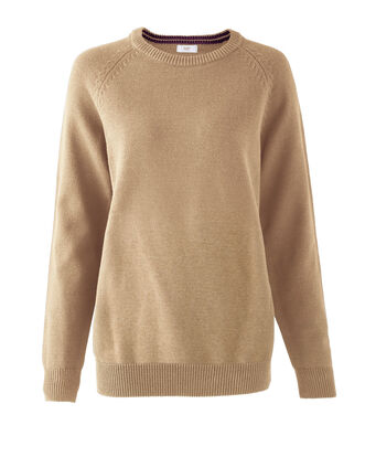 Plain Cotton Crew Neck Jumper