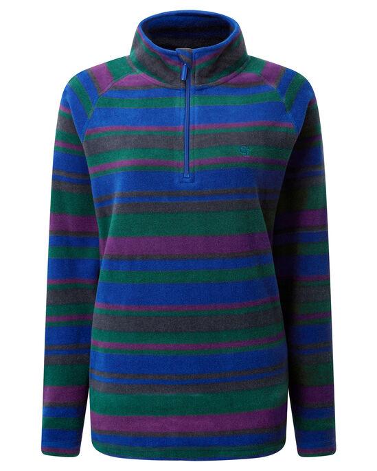 Stripe Fleece Half Zip Top