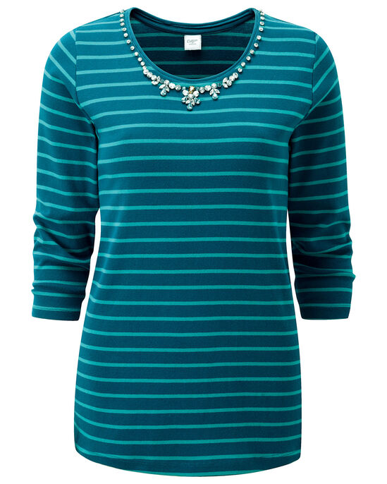 Jewelled Detail Top