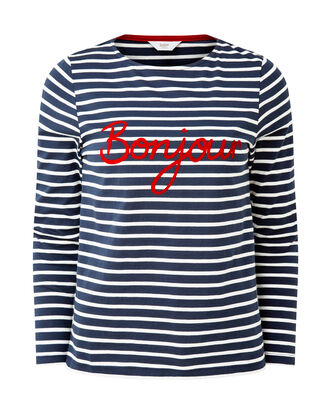 Stripe Slogan Top