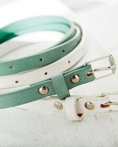 2 Pack Pastel Skinny Belts