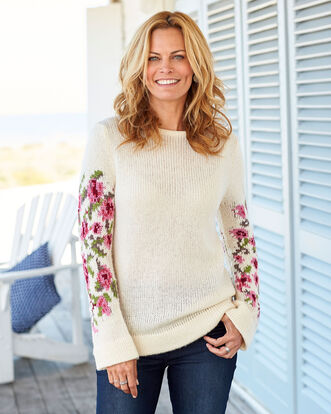 Floral Sleeve Jumper