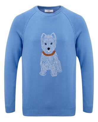 Cotton Crew Neck Dog Jumper