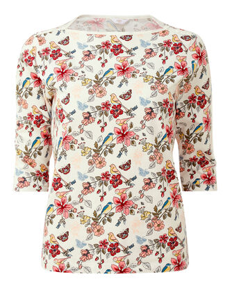 Ivory Boat Neck Top