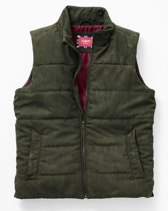 Faux Suede Padded Gilet