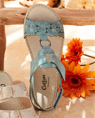 Floral Adjustable Sandals