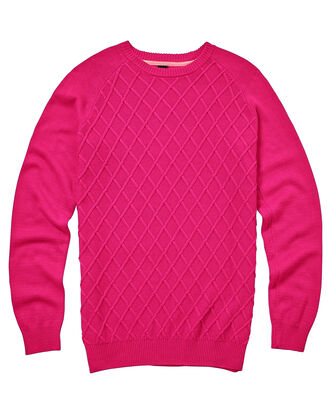 Diamond Knit Crew Neck Jumper