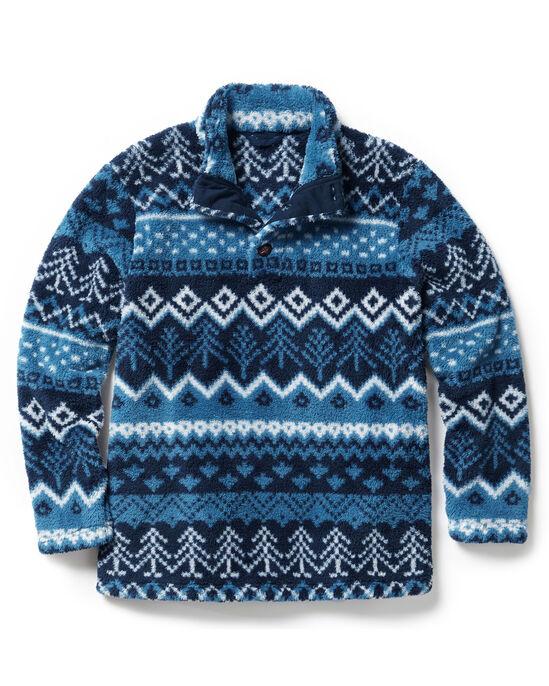 Soft Fleece Button Neck Top
