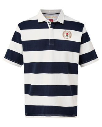 Short Sleeve England Stripe Rugby Shirt