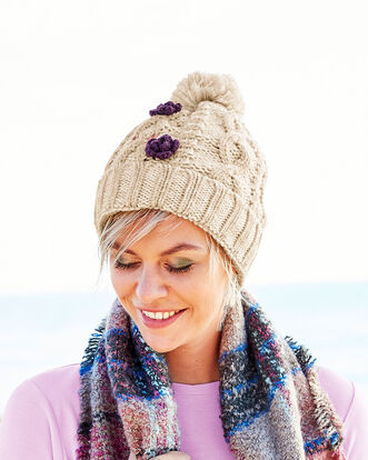 Waterproof Cable Knit Hat